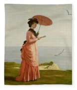 Lady Tennyson On Afton Downs Fleece Blanket