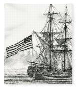 Lady Washington At Friendly Cove Fleece Blanket