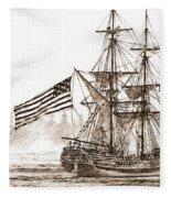 Lady Washington At Friendly Cove Sepia Fleece Blanket
