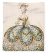 Lady Wearing Dress For A Royal Fleece Blanket