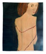 Lady With Beads From Shan Pecks Photograthy  Fleece Blanket