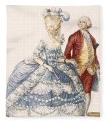 Lady With Her Husband Attending A Court Fleece Blanket
