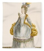 Ladys Ball Gown, Engraved By Dupin Fleece Blanket