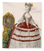 Ladys Court Gown In Dark Cherry Fleece Blanket