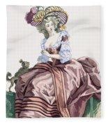 Ladys Elegant Caramel Coloured Satin Fleece Blanket