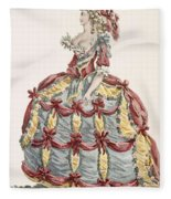 Ladys Gown For Cour A Leiquette Fleece Blanket