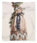Ladys Summer Walking Gown, Engraved Fleece Blanket