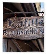 Lafittes Blacksmith Shop Sign Fleece Blanket