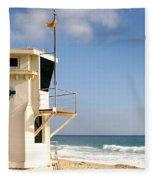 Laguna Beach Lifeguard Tower Fleece Blanket