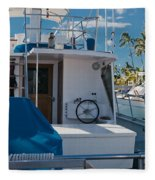 Lahaina Marina Maui Hawaii Fleece Blanket