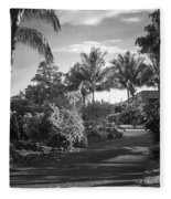 Lahaina Palm Shadows Fleece Blanket