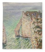 Laiguille And The Porte Daval   Etretat Fleece Blanket