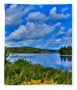 Lake Abanakee - Indian Lake New York Fleece Blanket