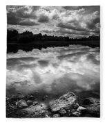 Lake Auburn Twilight Fleece Blanket