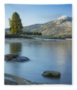 Lake Cascade Fleece Blanket