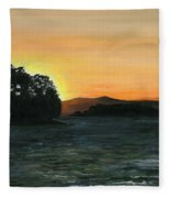 Lake Champlain Adirondack Mountains Vt/ny Fleece Blanket