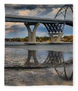 Lake Champlain New Bridge Fleece Blanket