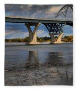 Lake Champlain Tied Arch Bridge Fleece Blanket