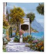 Lake Como-la Passeggiata Al Lago Fleece Blanket
