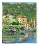 Lake Como Morning Fleece Blanket