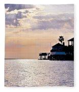 Lake Como On The Gulf Coast Sunset Fleece Blanket