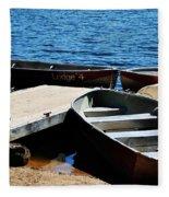 Lake Dock Fleece Blanket
