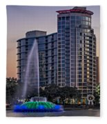 Lake Eola Water Fountain  Fleece Blanket