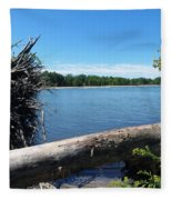 Lake Erie At Sheldon Marsh  Fleece Blanket