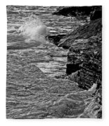 Lake Erie Waves Fleece Blanket