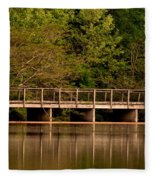 Lake Forest Bridge Fleece Blanket