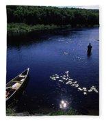 Lake Guiding Sports Fishing Fleece Blanket