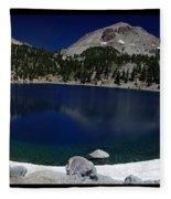 Lake Helen At Mt Lassen Triptych Fleece Blanket