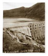 Lake Hodges And Dam San Diego County California  1952 Fleece Blanket