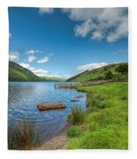 Lake In Wales Fleece Blanket