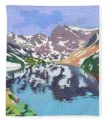 Lake Isabelle Colorado Fleece Blanket