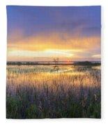 Lake Jackson Sebring Florida Panorama Fleece Blanket