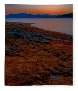 Lake Jocassee Sunrise Fleece Blanket