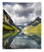 Lake Louise Banff National Park Fleece Blanket