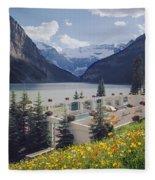 1m3520-h-lake Louise Chateau Fleece Blanket