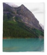 Panoramic Lake Louise, Alberta - Morning Reflections Fleece Blanket