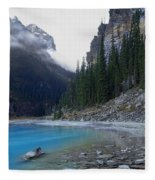 Lake Louise North Shore - Canada Rockies Fleece Blanket