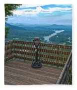 Lake Lure Overlook Fleece Blanket