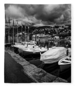 Lake Maggiore Bw 1 Fleece Blanket