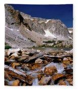Lake Marie Snowy Range Fleece Blanket