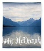 Lake Mcdonald Fleece Blanket