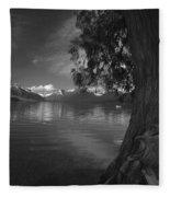 Lake Mcdonald In The Spring Fleece Blanket