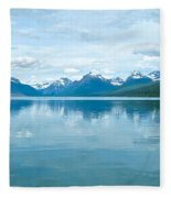 Lake Mcdonald Reflection In Glacier  National Park-montana Fleece Blanket