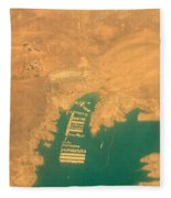 Lake Mead From The Air Fleece Blanket