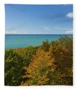 Lake Michigan Cut River 1 Fleece Blanket