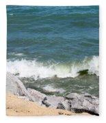 Lake Michigan Shore Fleece Blanket